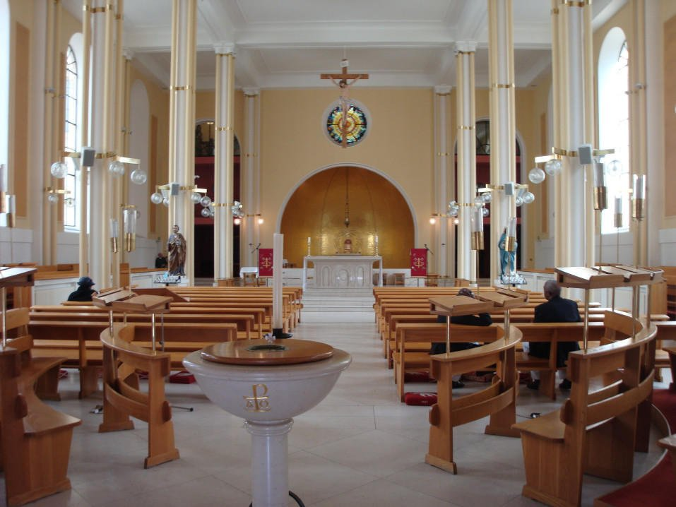 Interior of St Peter's Church Belgrave London