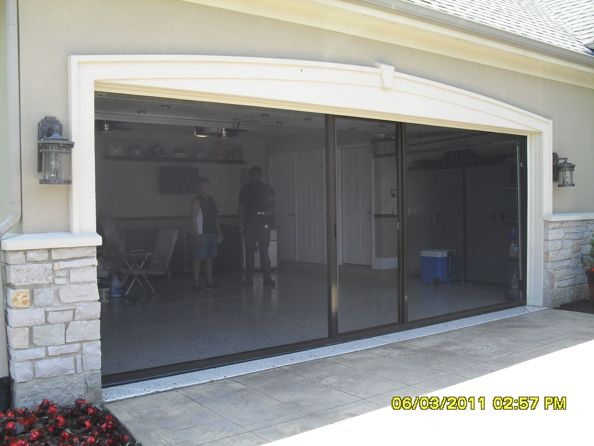 Residential Garage Screen Door Installation