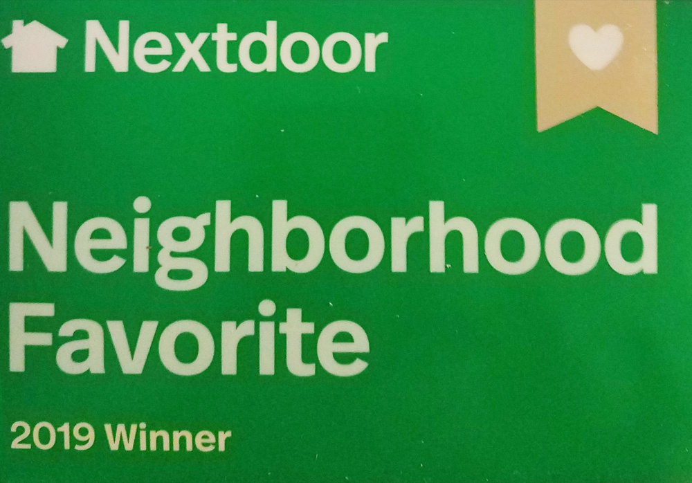 2019 Nextdoor Neighborhood Favorite award