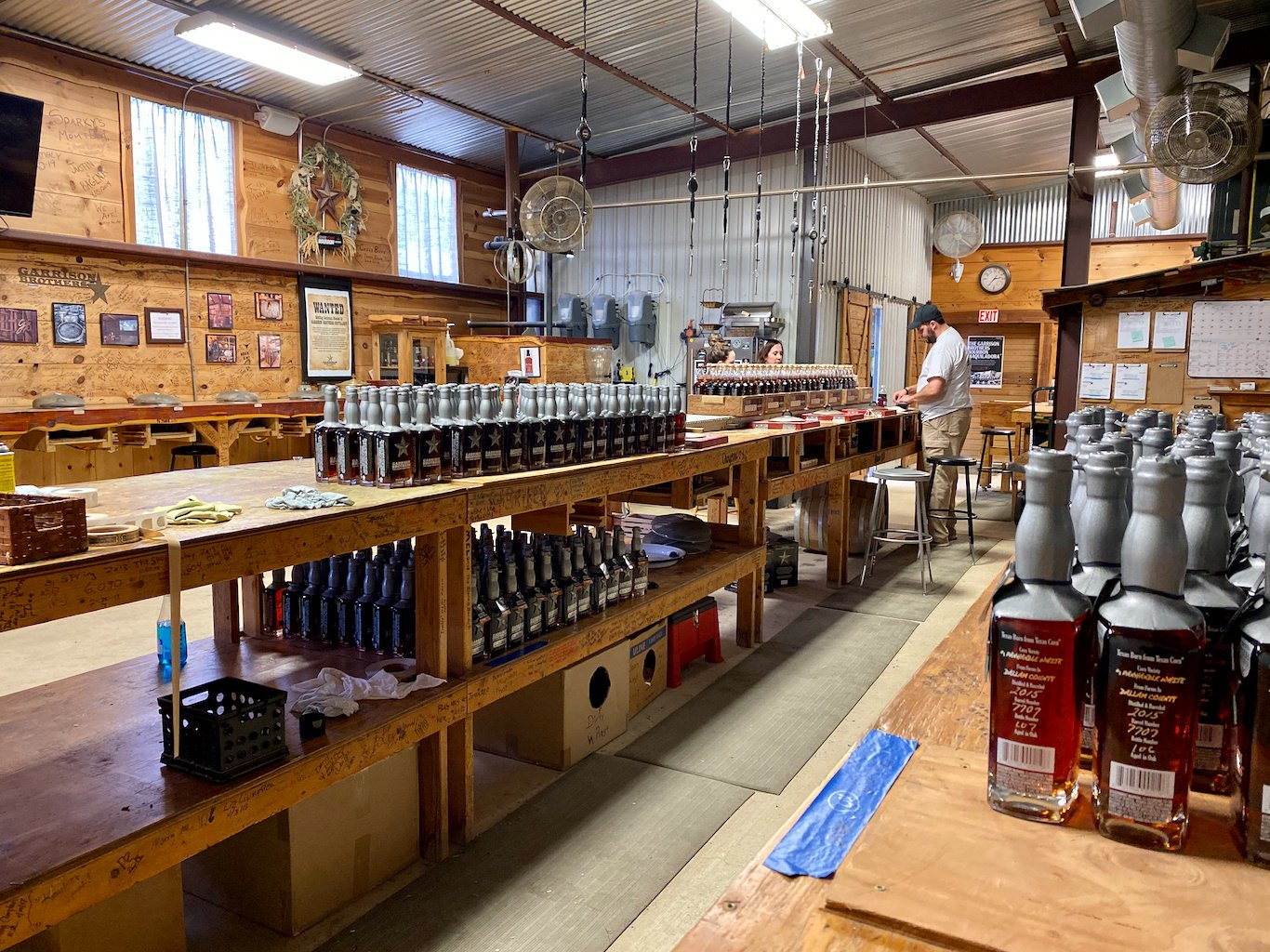 Bottling Line - All Done by Hand - Garrison Brothers Distillery