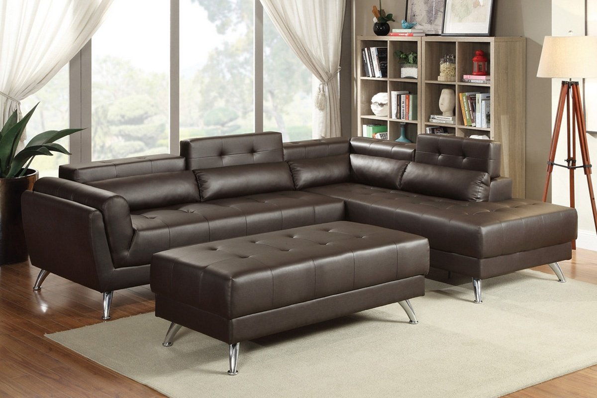 (F6976) Moderna Sectional Sofa Available In Multiple Colors