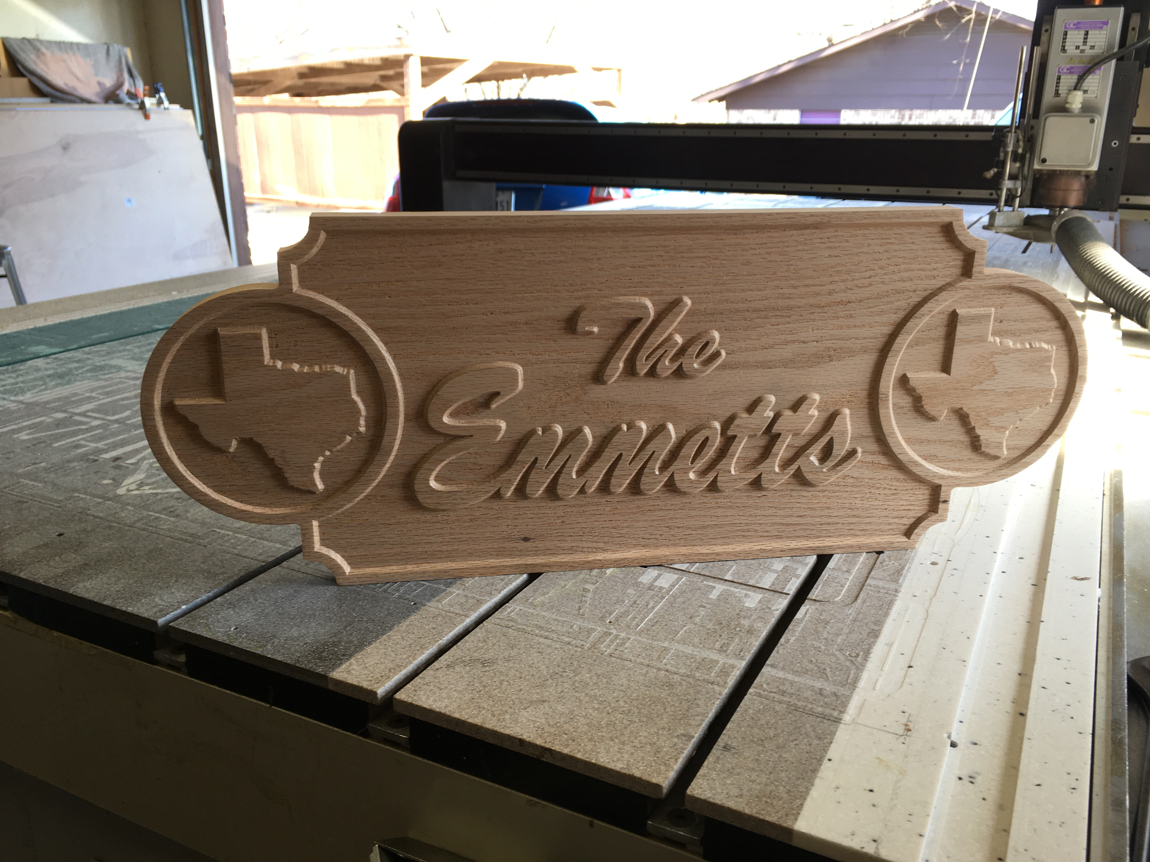House Plaque-Family Name-Red Oak