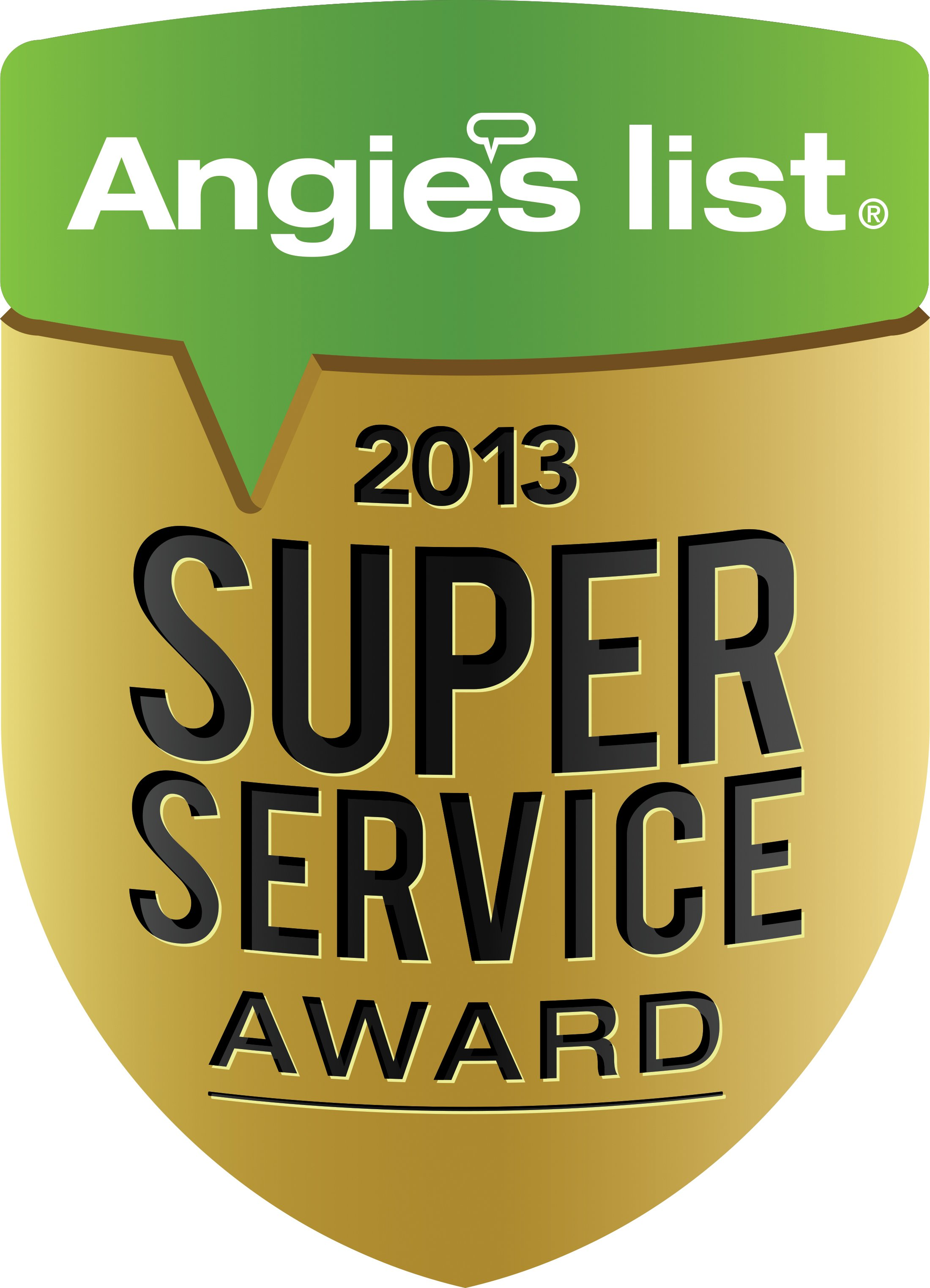 Angies list super service award||||