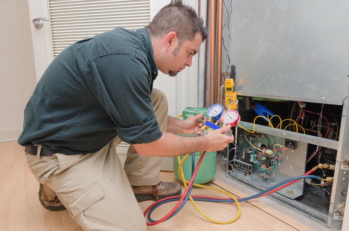 Man providing HVAC Service in Kennesaw