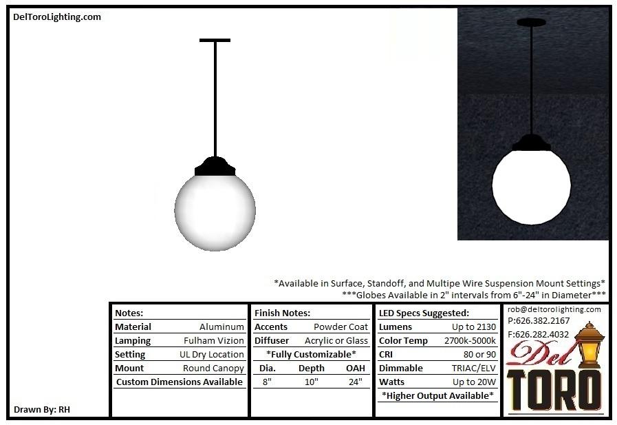 701P-Classic Globe Pendant