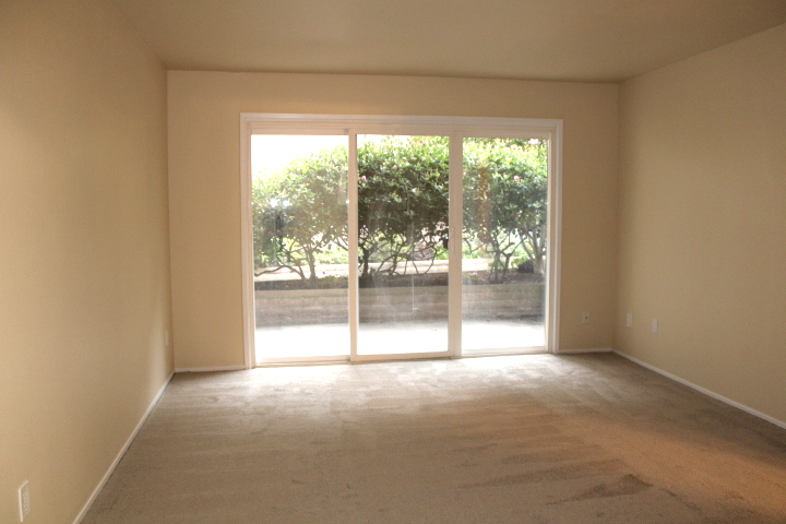 The family room leads to a semi-private patio.