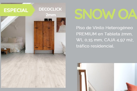 Nuevo Color SNOW OAK Su presentación en tabletas permite explotar la creatividad con la mezcla de  colores , tamaños y  texturas de madera.