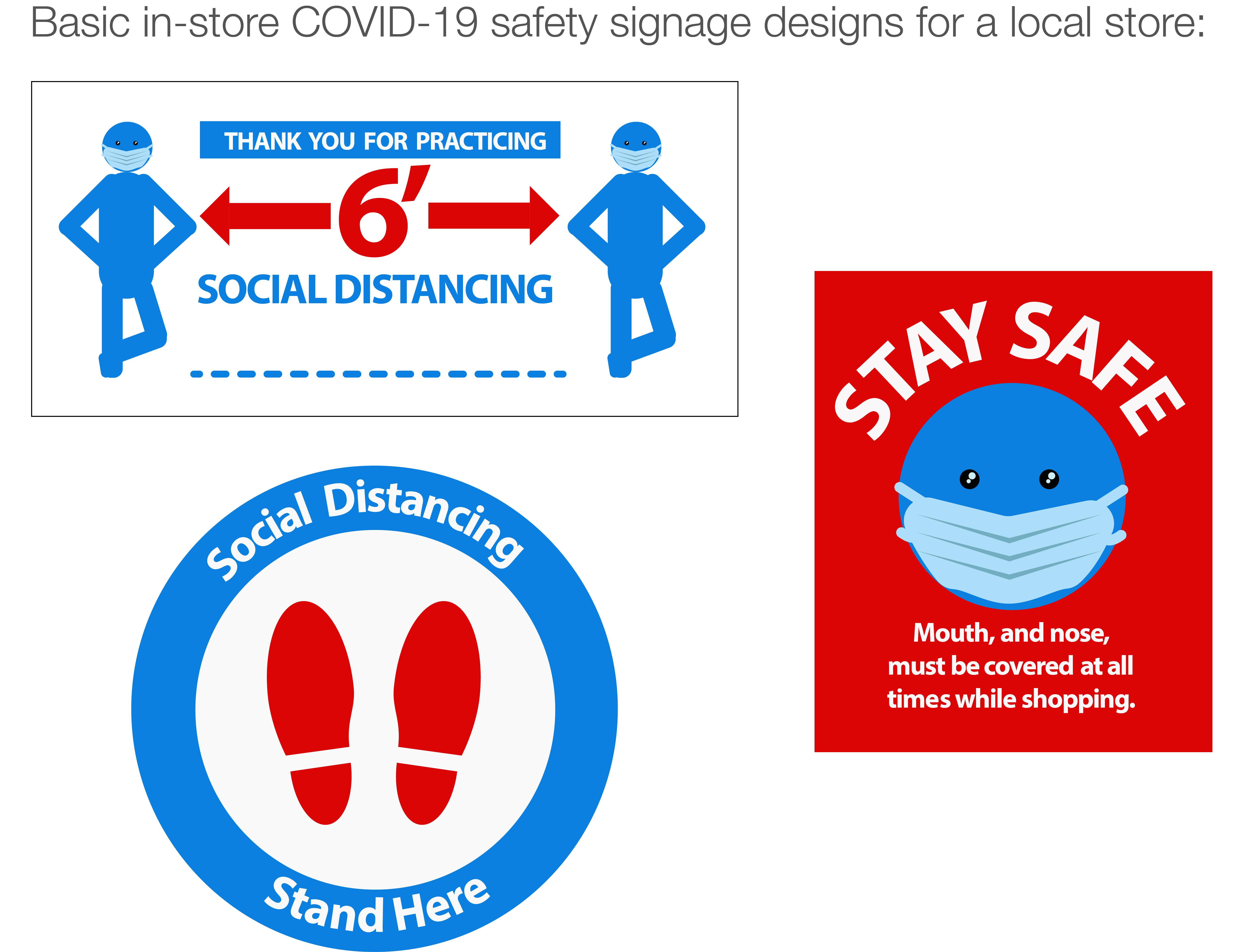 COVID-signage