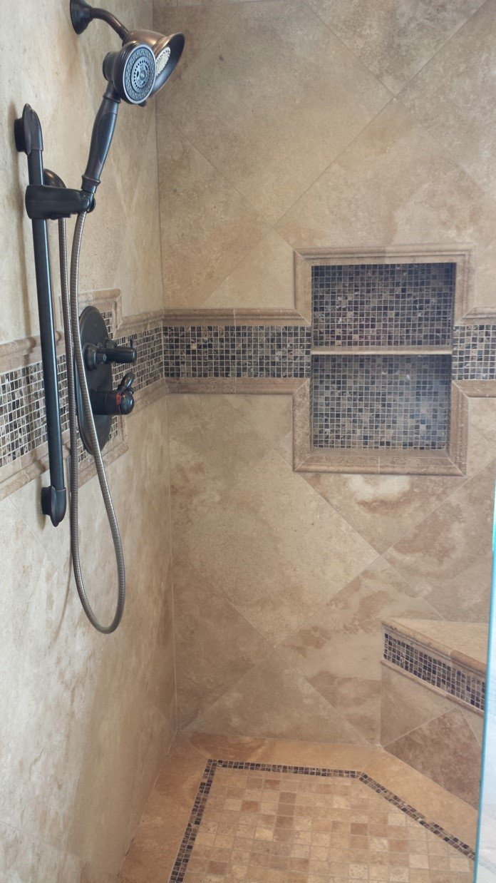 Reinstalled Shower Tile