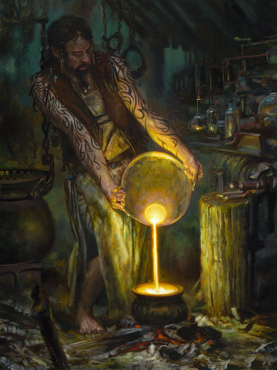 "The Alchemist 24"" x 18""  Oil on Panel 2017 collection of Ryan Metzger"