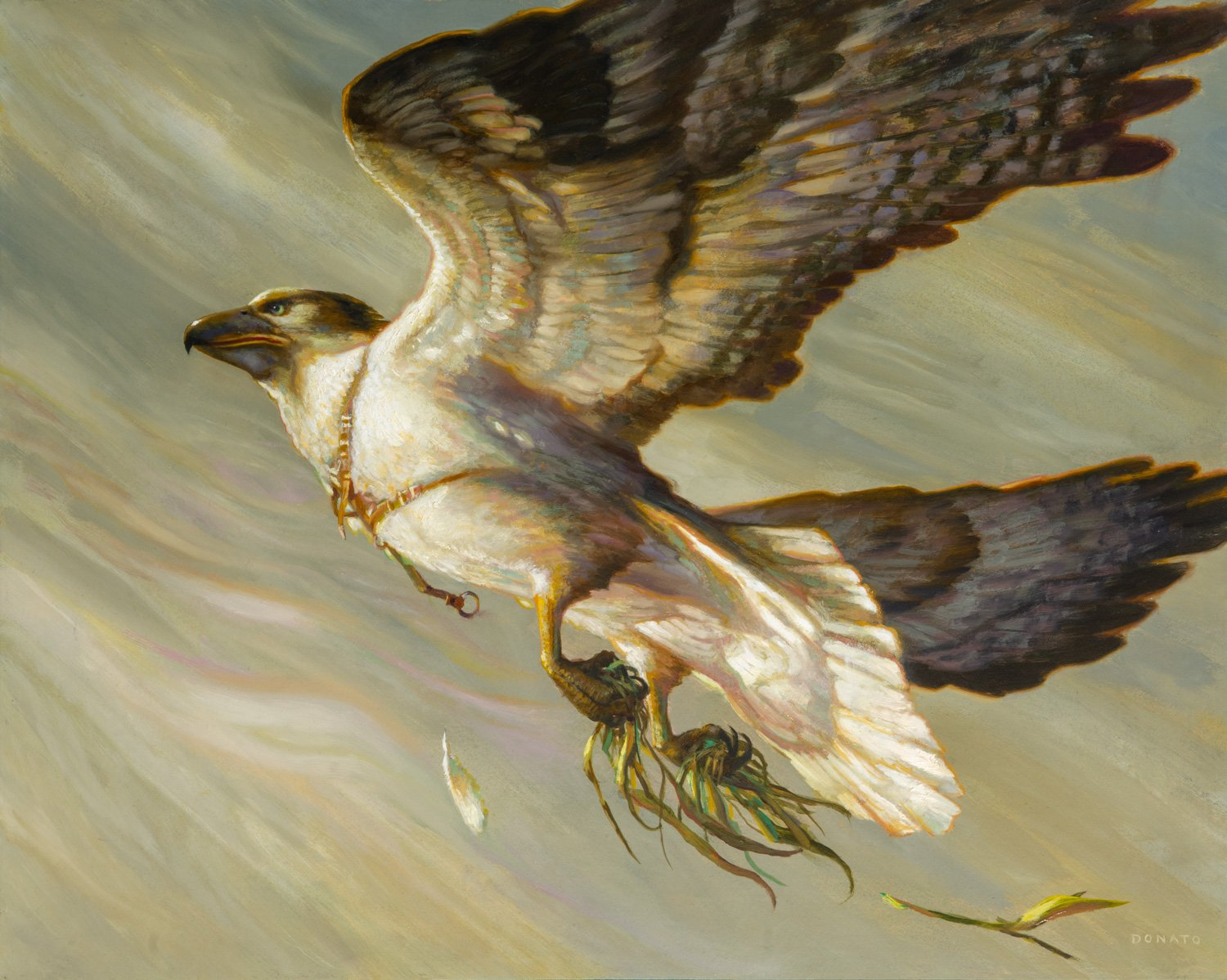 "Cartographer's Hawk Ikoria Commander 2020 16"" x 20""  Oil on Panel collection of Heiko Schmidt"