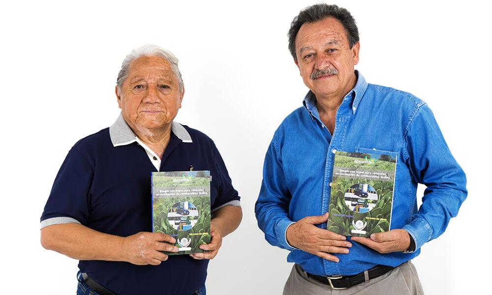 Miguel Aké y Rogelio Sosa, socios de Nopalimex