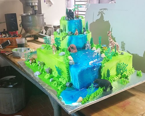 Jungle Cake Side View
