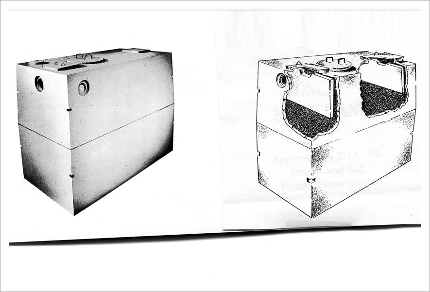 Precast molded concrete tank||||