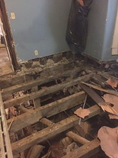 Demo of floor as required.