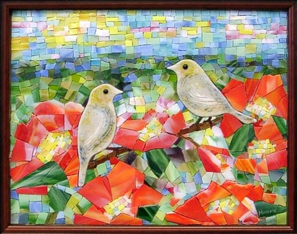 """Spring Birds"" by Nataliya Guchenia Size - 14""H X 11""W $600.00"