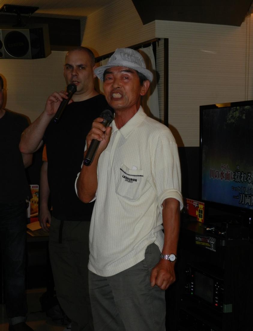 Nakamura Kenzo Sensei is a karaoke star.