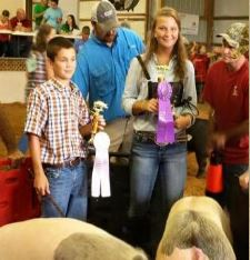 Ashton Thompson Champion Crossbred 2015 Henry County Fair