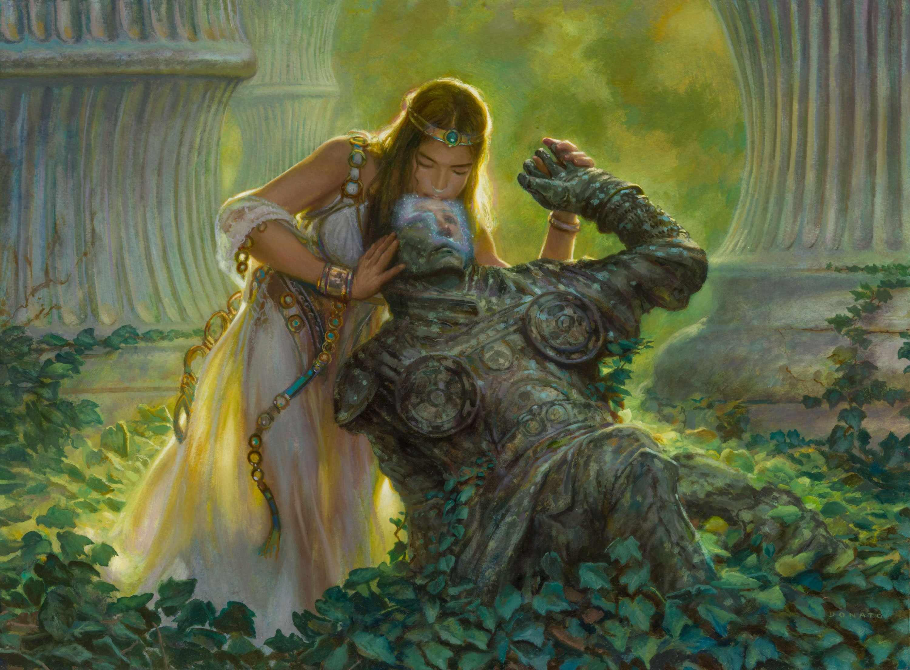 "True Love's Kiss Throne of Eldraine  18"" x 24""  Oil on Panel  2018 private collection"