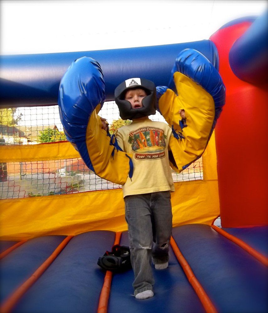Bounce House Boxing Ring!