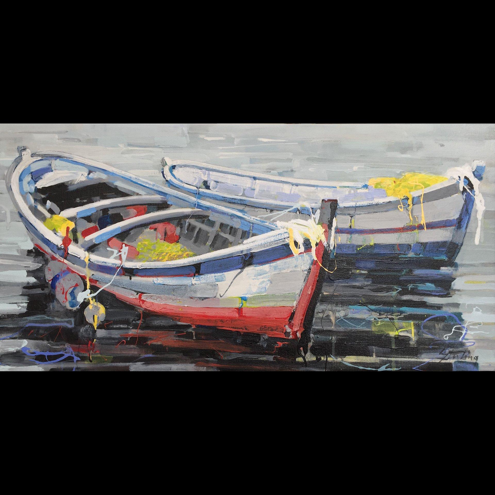 Marine Layer acrylic on canvas 12x24 SOLD
