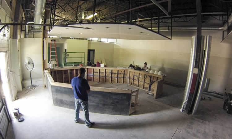Cuvee Coffee Shop Construction 3