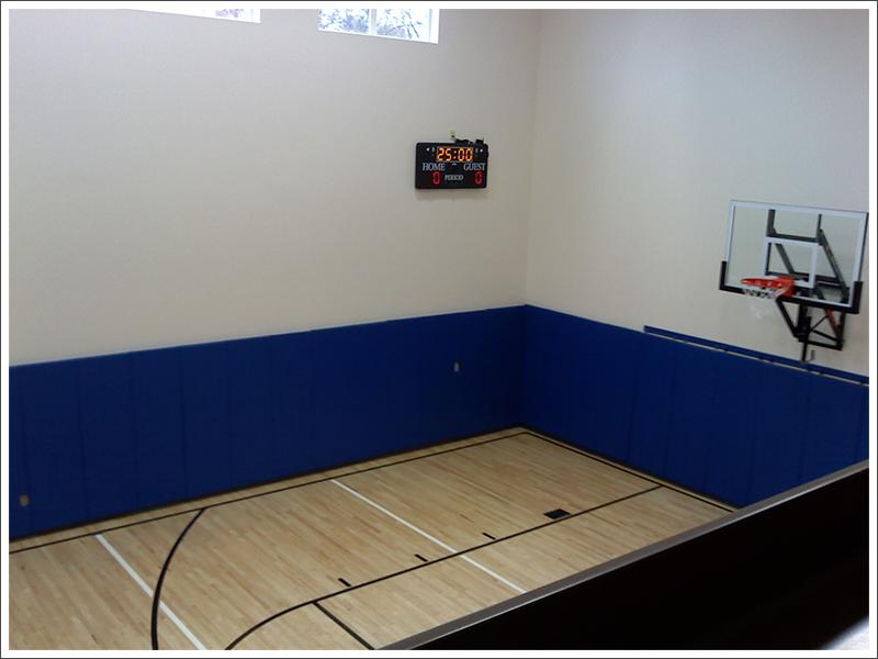 Blue Gym Wall Padding||||