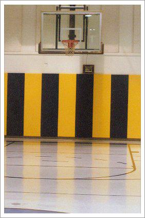 Inside of basketball court||||