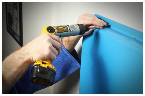 Installing wall padding||||