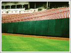 Outfield wall padding||||