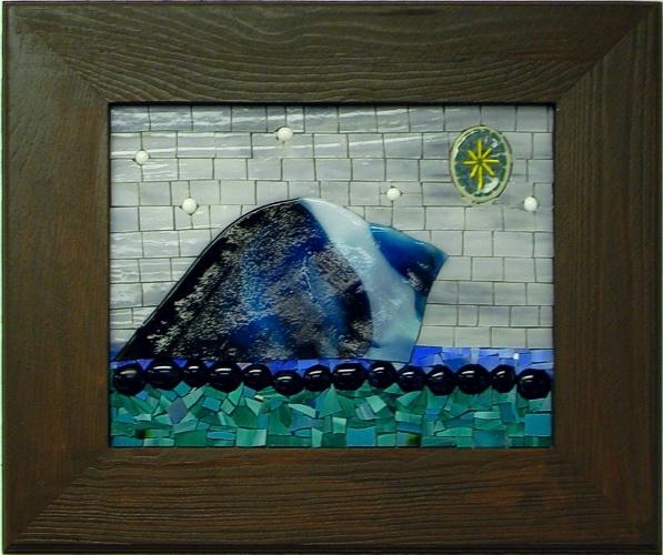 """""""Iceberg"""" by Nataliya Guchenia Glass Size - 8""""H X 9 1/2""""W $200.00"""