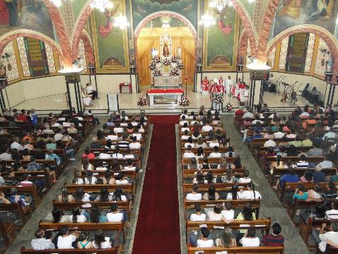 Igreja  Matriz Nosso Senhor Bom Jesus, o padroeiro da Cidade Imagem: Luiz Aranha