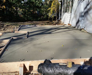 Almost Completed Concrete Patio