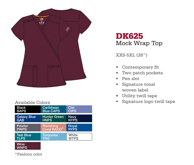 Parte Superior Mock Wrap. DK625.