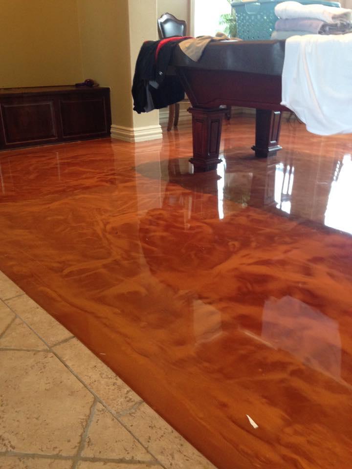 Epoxy-Coated Floor