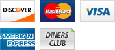 We accept Discover, MasterCard, Visa, American Express and Dinner Club.||||