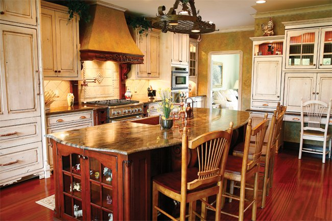 Wooden and stone countertops||||