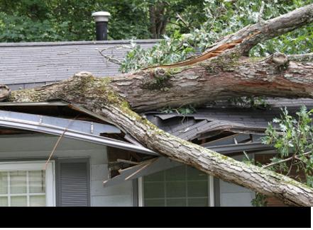 Storm damage roof repair||||
