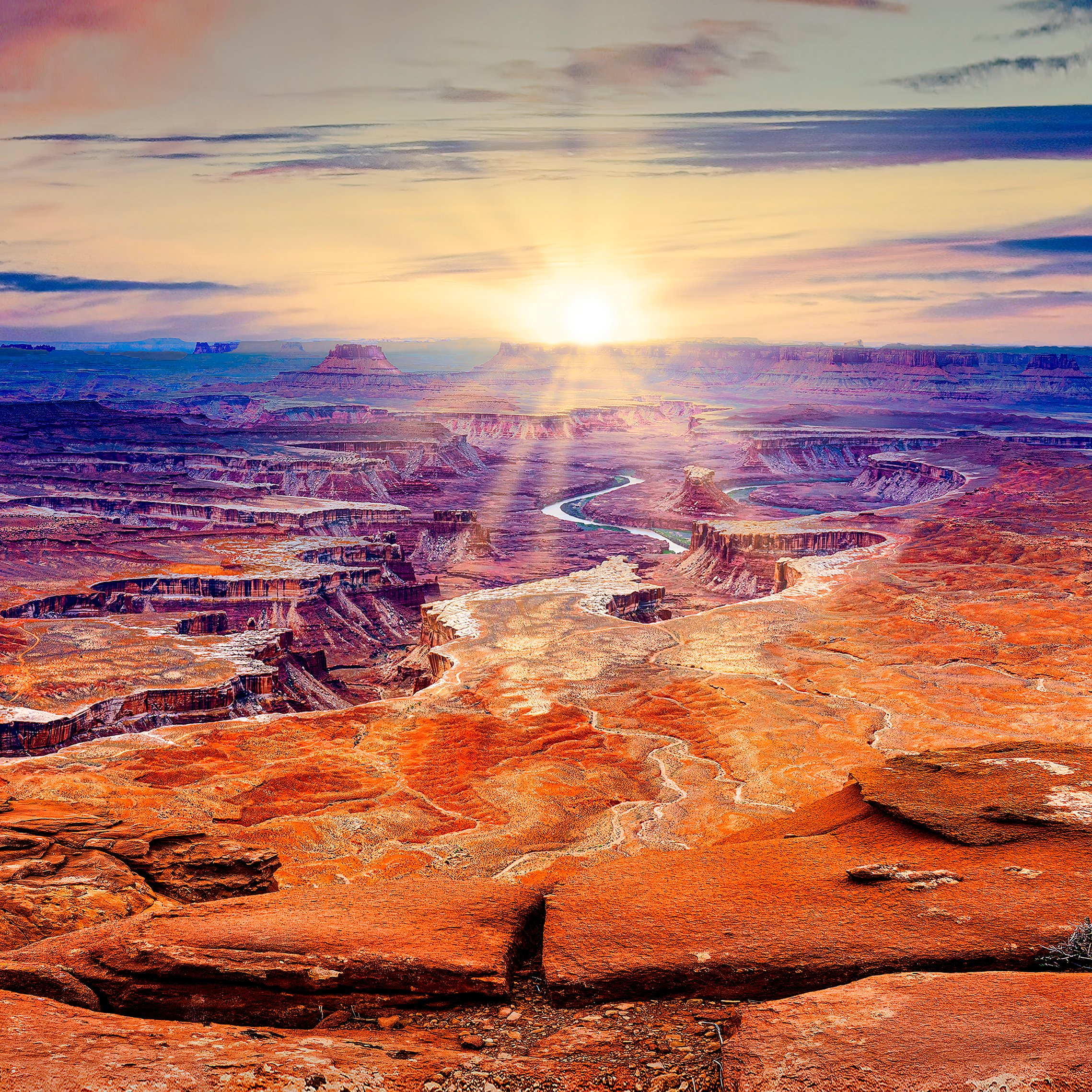 GREEN RIVER OVERLOOK - located in Canyonlands National Park and one of my favorite locations to photograph. This view is also available in a much wider panorama shot.