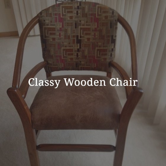 Classy Wooden Chair
