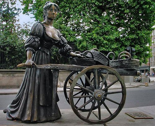 Statue of Molly Malone in Dublin