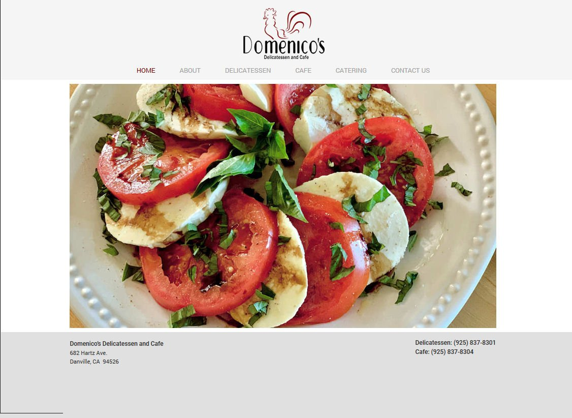 Domenico's Delicatessen & Cafe Website