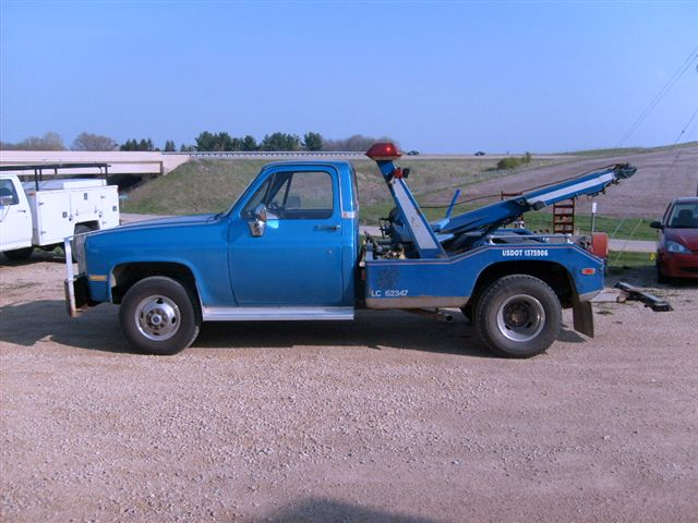 Blue Tow Truck
