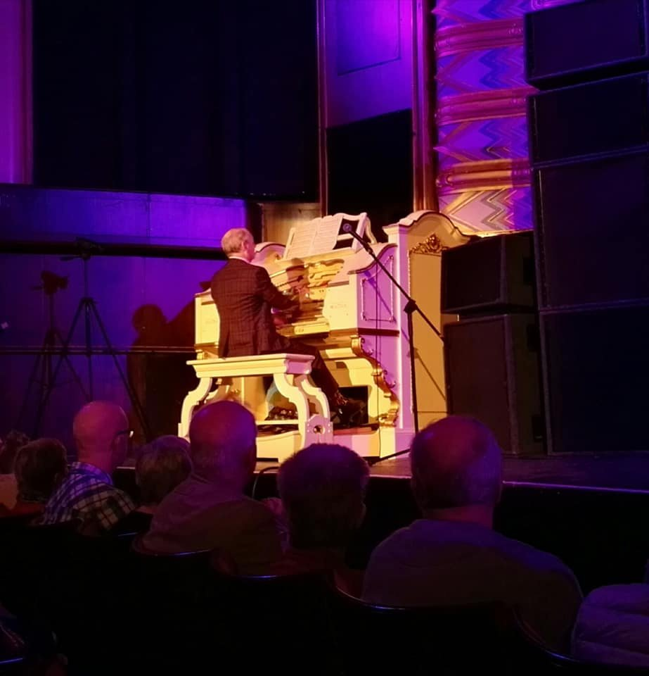Phil Kelsall plays the Wurlitzer at the Opera House, Blackpool