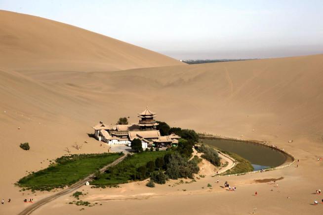 Oasis in the desert.