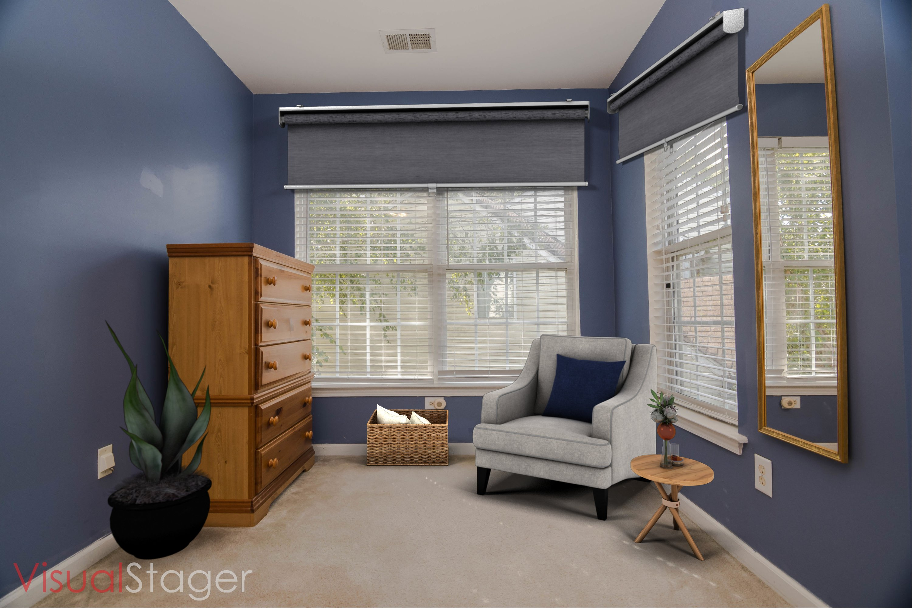 Master Bedroom Sitting Area - Virtual Staging After