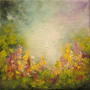 """Garden - 3""""x3"""" Oil on Stretched Canvas  $39"""