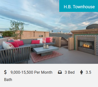 H.B. Townhouse Elegant Ocean View Townhouse! Beautifully furnished 2000SF 3-bedroom (each with its own bath), 3.5-bath townhouse with amazing ocean views from all levels (including the Hermosa Pier). Oversized rooftop deck with a…
