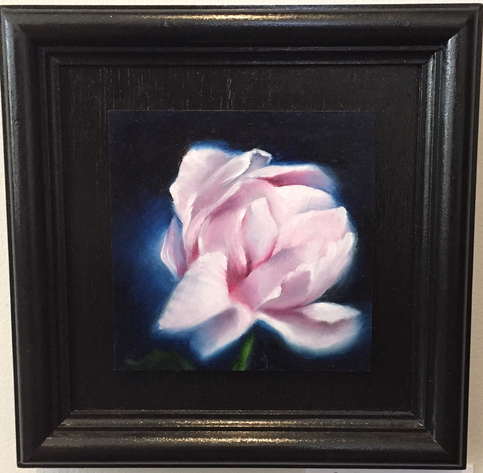 "Theresa's Rose Oil 10.5"" x 10.5"" $185."