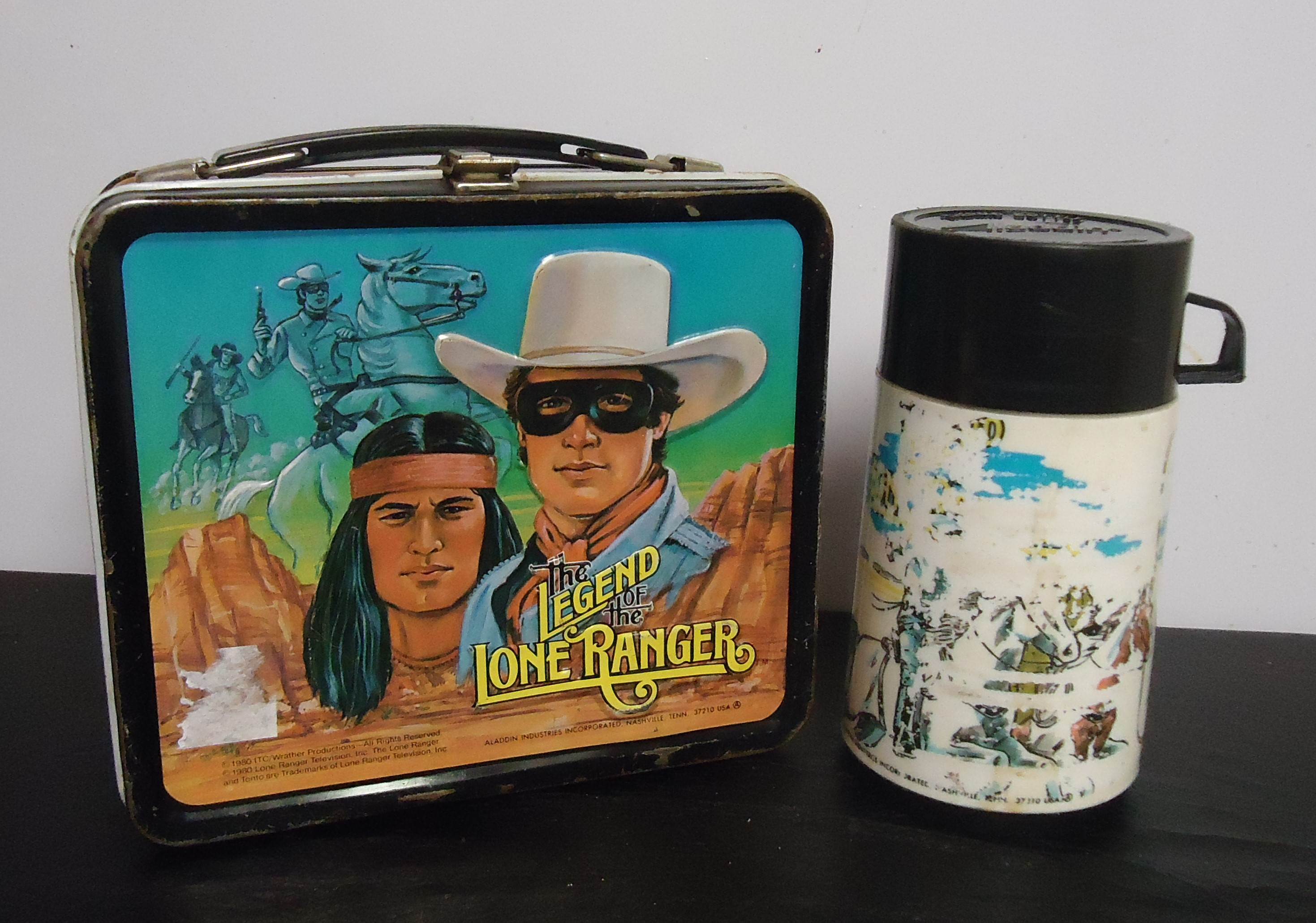 """(8) """"The Lone Ranger"""" Metal Lunch Box W/ Thermos $50.00"""